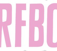 Pastel Pink Surfbort Beyonce Design Sticker