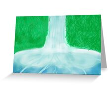 A Day at the Waterfall  Greeting Card