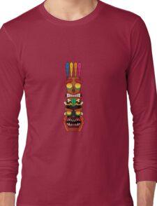 Aku Aku Uka Uka totem pole Long Sleeve T-Shirt