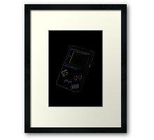 Neon Gameboy Classic Framed Print