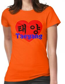♥♫I Love Taeyang-Fabulous K-Pop Clothes & Phone/iPad/Laptop/MackBook Cases/Skins & Bags & Home Decor & Stationary & Mugs♪♥ Womens Fitted T-Shirt