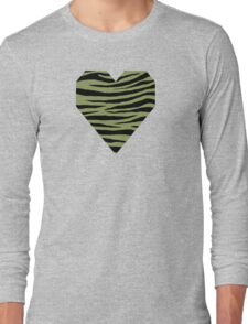 0440 Moss Green or Turtle Green Tiger Long Sleeve T-Shirt