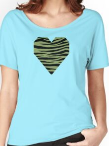 0440 Moss Green or Turtle Green Tiger Women's Relaxed Fit T-Shirt