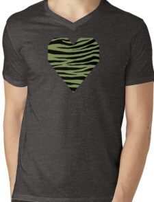 0440 Moss Green or Turtle Green Tiger Mens V-Neck T-Shirt