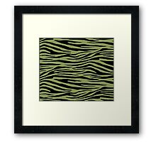 0440 Moss Green or Turtle Green Tiger Framed Print