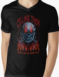 Beauty and the Beast Metal Mens V-Neck T-Shirt