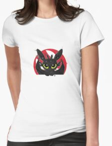 How To Train Your Dragon, Toothless cute pocket Womens Fitted T-Shirt
