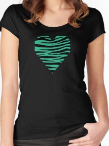 0441 Mountain Meadow Tiger Women's Fitted Scoop T-Shirt