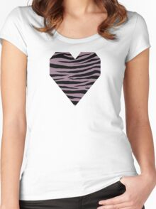 0442 Mountbatten Pink Tiger Women's Fitted Scoop T-Shirt