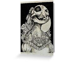 The Tattooed Girl Greeting Card