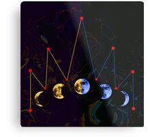 Moon Crown Metal Print