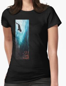 """""""Never Enough"""" Diving Right Whale Womens Fitted T-Shirt"""