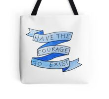 danisnotonfire Courage Quote (blue) Tote Bag