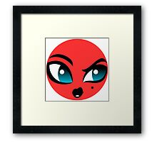 Lady Beast Character Framed Print
