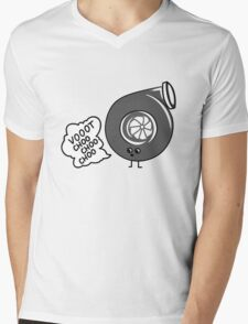 What does the turbo say? Mens V-Neck T-Shirt