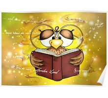 Märchenzeit mit der Büchereule ~ time for fairytales with Owl of books Poster