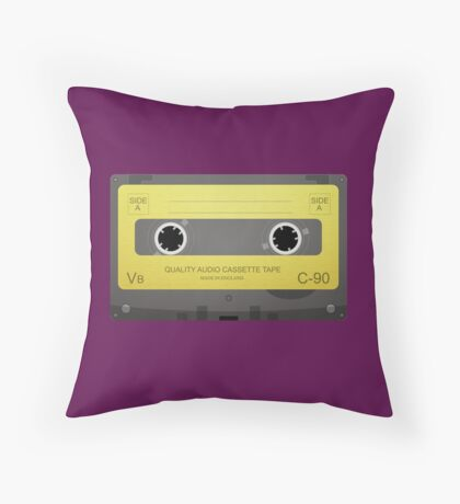 80's Style Music Throw Pillow