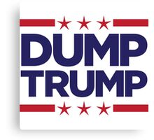 Dump Trump - 2016 Election Canvas Print