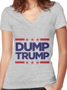 Dump Trump - 2016 Election Women's Fitted V-Neck T-Shirt