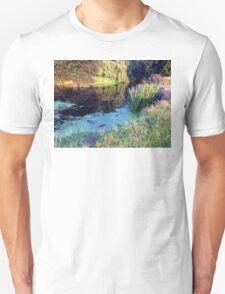 Colourful English countryside landscape  Unisex T-Shirt