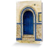 door collection: blue door Greeting Card