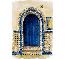 door collection: blue door Photographic Print