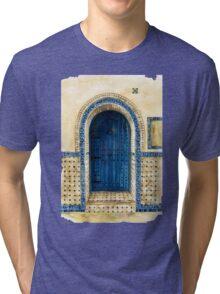 door collection: blue door Tri-blend T-Shirt