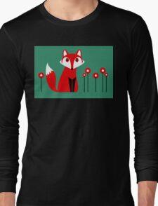 LONE FOX IN GARDEN Long Sleeve T-Shirt