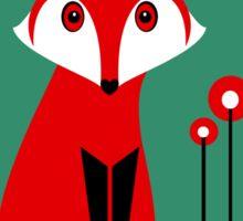 LONE FOX IN GARDEN Sticker