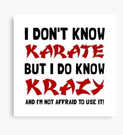 Karate Krazy Canvas Print
