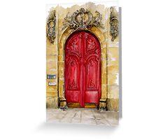 door collection: red door Greeting Card