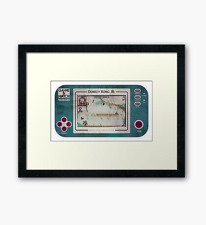 Game & Watch - Donkey Kong Jr Framed Print