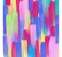 Vertical Watercolor Abstract Vivid Colorful Pop Photographic Print