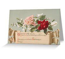 Wedding congratulations vintage Card  Greeting Card