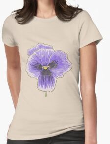 Dramatic Purple Pansy Design/Floral Art Womens Fitted T-Shirt