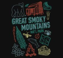 Great Smoky Mountains National Park One Piece - Short Sleeve