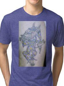 Ink wizard logo Tattoo Tri-blend T-Shirt