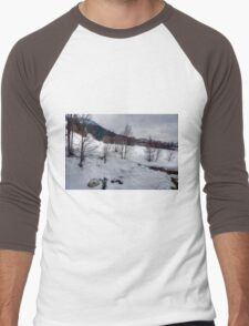 Saalbach, Austria Men's Baseball ¾ T-Shirt