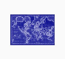 World Map (1766) Blue & White  Unisex T-Shirt