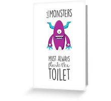 Bathroom rules for kids! Greeting Card