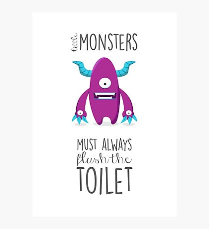 Bathroom rules for kids! Photographic Print