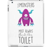 Bathroom rules for kids! iPad Case/Skin