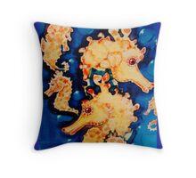 single seahorse Throw Pillow