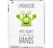 Monster reminder for children of the bathroom rules! iPad Case/Skin