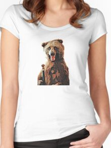 Bad Taxidermy - Bear Women's Fitted Scoop T-Shirt