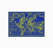 World Map (1766) Blue & Yellow Unisex T-Shirt