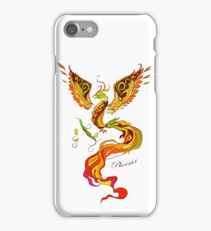 Phoenix vector illustartion in russian tradition style iPhone Case/Skin