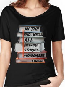 Margaret Atwood and Books  Women's Relaxed Fit T-Shirt