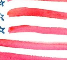 American Flag Watercolor Sticker