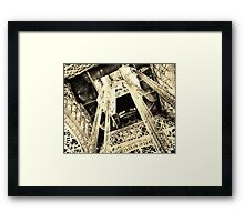 Under Eiffel by White Balance Framed Print
